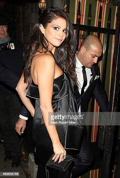 Selena Gomez at Annabels for an intimate dinner and exclusive performance on September 24 2015 in London England