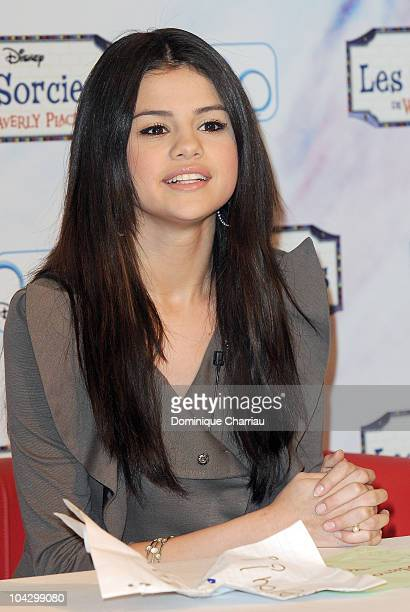 Selena Gomez attends a signing session for a clothing line at a CA store on March 31 2010 in Paris France