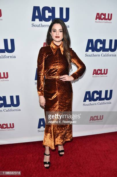 Selena Gomez attends ACLU SoCal's Annual Bill of Rights dinner at the Beverly Wilshire Four Seasons Hotel on November 17 2019 in Beverly Hills...