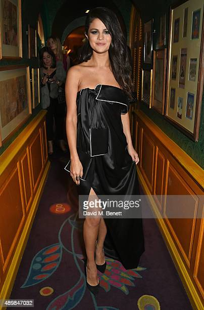 Selena Gomez attends Annabel's for an intimate dinner and exclusive performance with Selena Gomez at Annabel's on September 24 2015 in London England