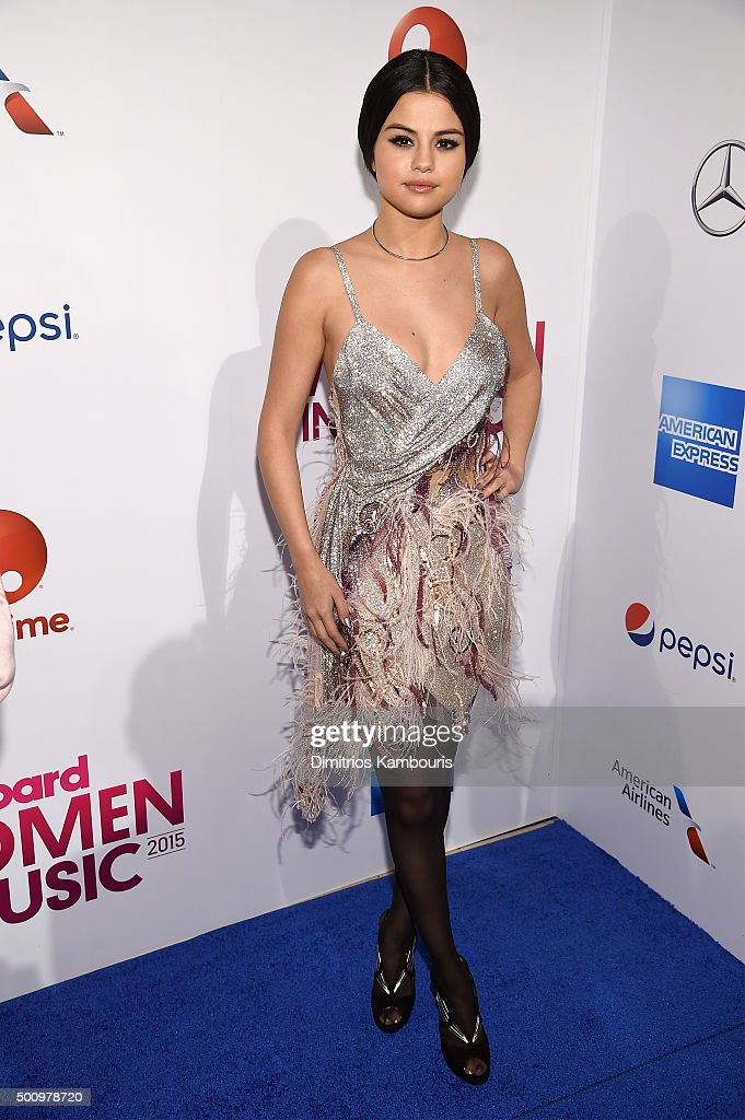 Selena Gomez attends Billboard's 10th Annual Women In Music at Cipriani 42nd Street on December 11, 2015 in New York City.