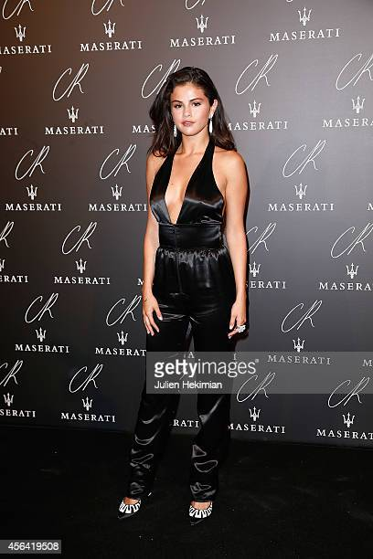 Selena Gomez attends CR Fashion Book Issue N°5 Launch Party as part of the Paris Fashion Week Womenswear Spring/Summer 2015 on September 30 2014 in...