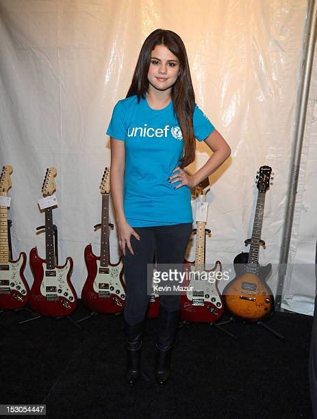 Selena Gomez attends Global Citizen Festival in Central Park to end extreme poverty Backstage at Central Park on September 29 2012 in New York City
