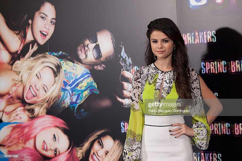 Selena Gomez attends 'Springbreakers' Photocall at Villamagna Hotel on February 21, 2013 in Madrid, Spain.