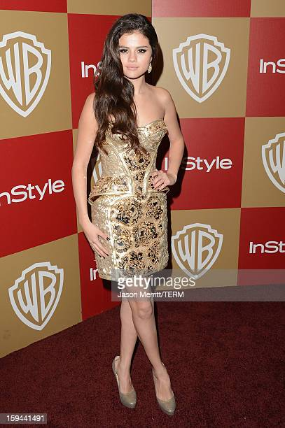 Selena Gomez attends the 14th Annual Warner Bros And InStyle Golden Globe Awards After Party held at the Oasis Courtyard at the Beverly Hilton Hotel...