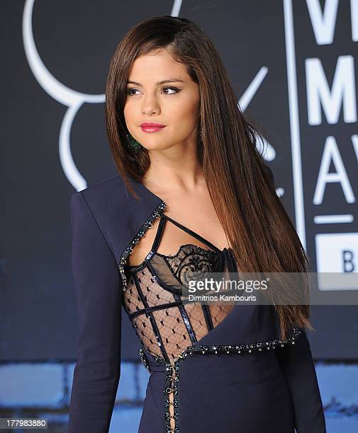 Selena Gomez attends the 2013 MTV Video Music Awards at the Barclays Center on August 25 2013 in the Brooklyn borough of New York City