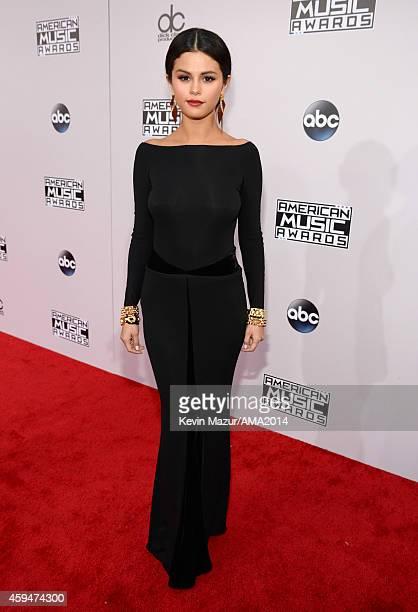 Selena Gomez attends the 2014 American Music Awards at Nokia Theatre LA Live on November 23 2014 in Los Angeles California