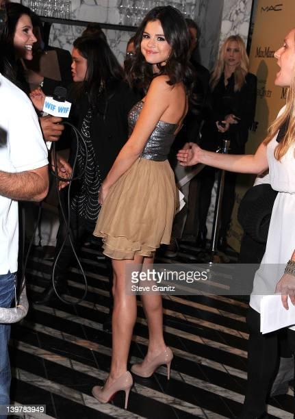 Selena Gomez attends the 5th Annual Women In Film PreOscar Party at Cecconi's Restaurant on February 24 2012 in Los Angeles California