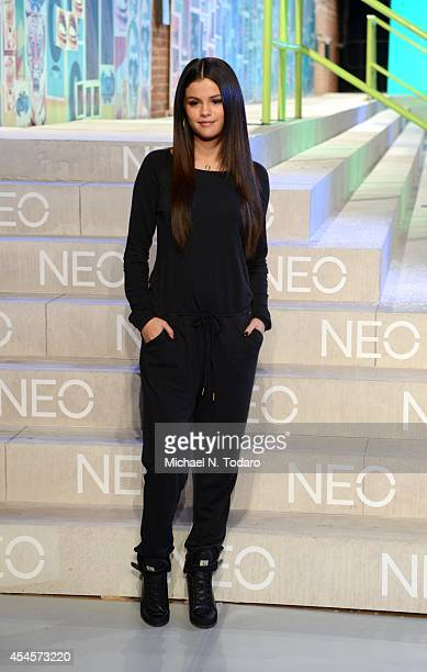 Selena Gomez attends the Adidas Neo show during MercedesBenz Fashion Week Spring 2015 at The Waterfront on September 3 2014 in New York City