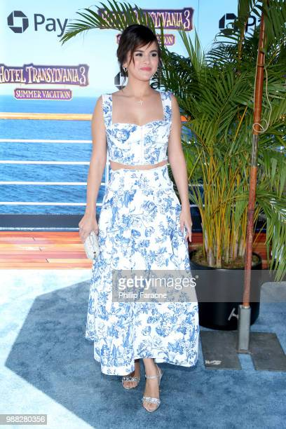 Selena Gomez attends the Columbia Pictures and Sony Pictures Animation's world premiere of 'Hotel Transylvania 3 Summer Vacation' at Regency Village...
