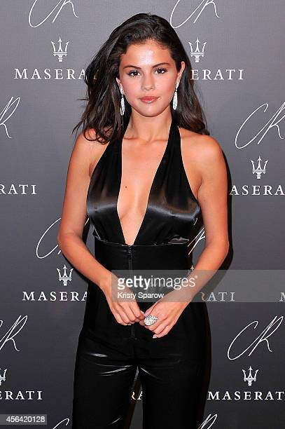 Selena Gomez attends the CR Fashion Book Issue No5 Launch Party Hosted by Carine Roitfeld and Stephen Gan at The Peninsula Paris on September 30 2014...