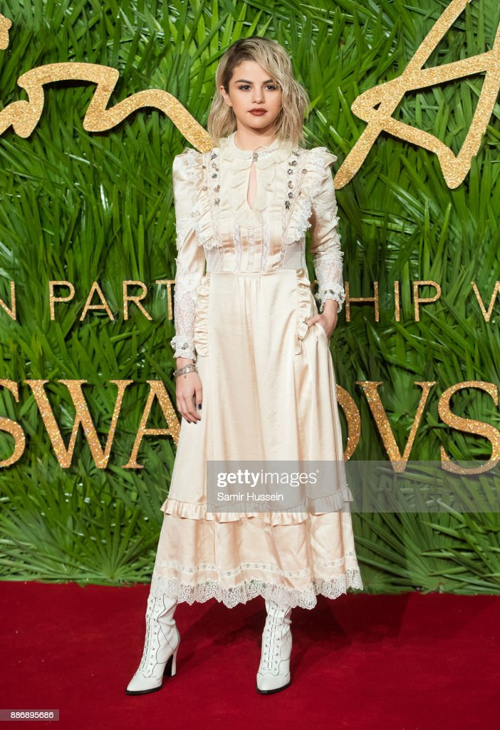 Selena Gomez attends The Fashion Awards 2017 in partnership with Swarovski at Royal Albert Hall on December 4, 2017 in London, England.