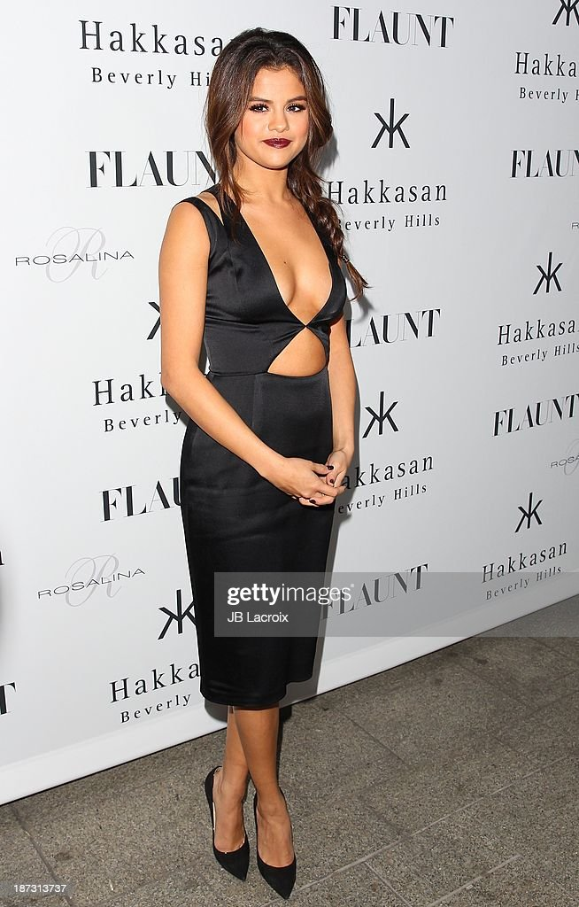 Selena Gomez attends the Flaunt Magazine Issue Party with Selena Gomez And Amanda De Cadenet held at Hakkasan Beverly Hills on November 7, 2013 in Beverly Hills, California.