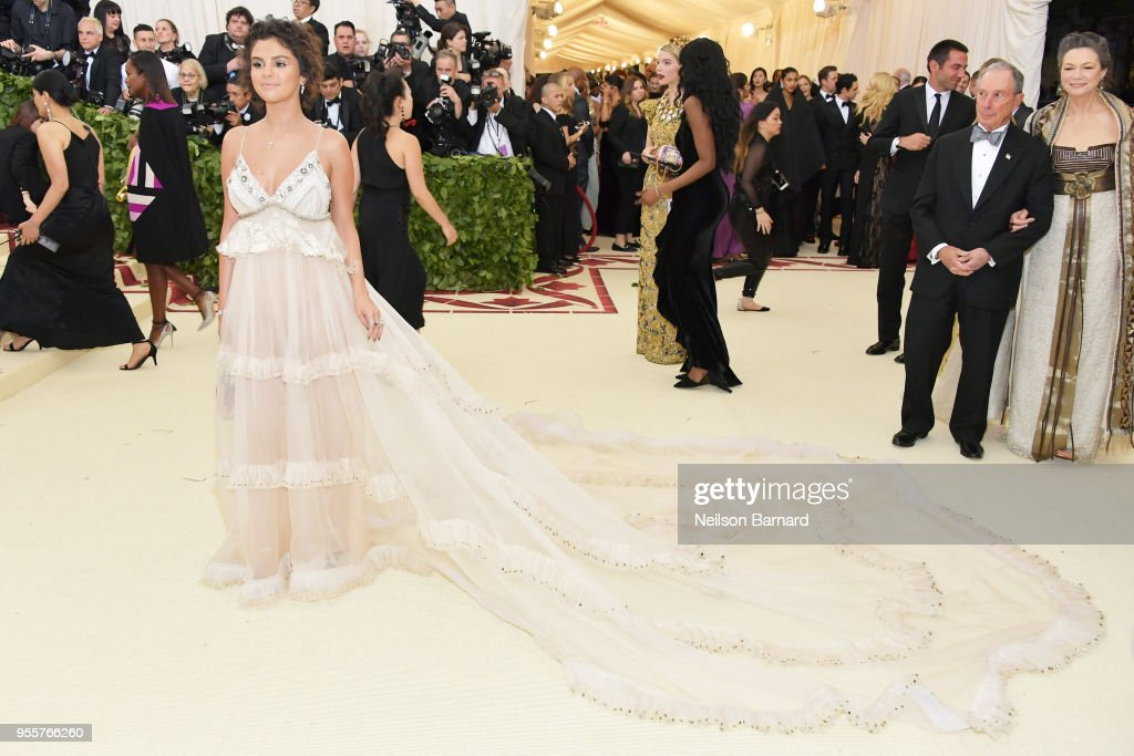 Selena Gomez attends the Heavenly Bodies: Fashion & The Catholic Imagination Costume Institute Gala at The Metropolitan Museum of Art on May 7, 2018 in New York City.