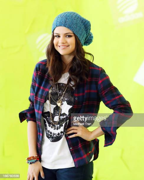 Selena Gomez attends the launch for the Adidas NEO clothing label held on November 20 2012 in Los Angeles California