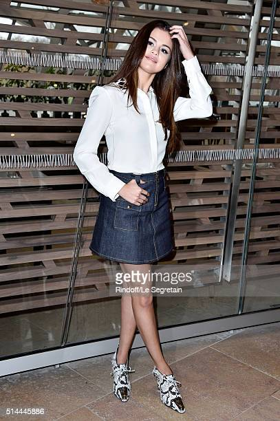 Selena Gomez attends the Louis Vuitton show as part of the Paris Fashion Week Womenswear Fall/Winter 2016/2017 on March 9 2016 in Paris France