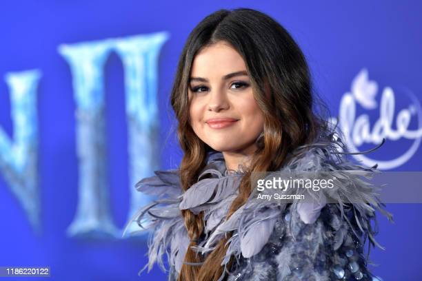 Selena Gomez attends the premiere of Disney's Frozen 2 at Dolby Theatre on November 07 2019 in Hollywood California