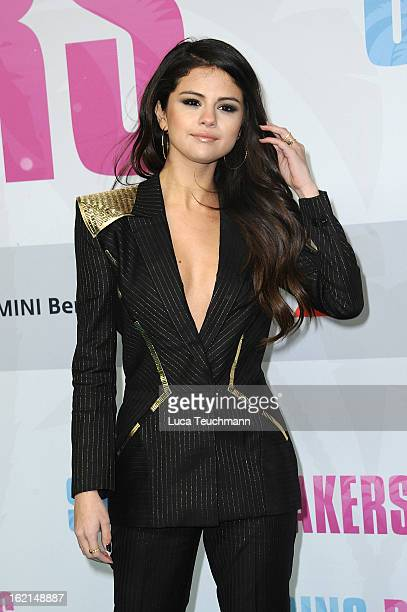 Selena Gomez attends the premiere of ''Spring Breakers at Sony Center on February 19 2013 in Berlin Germany