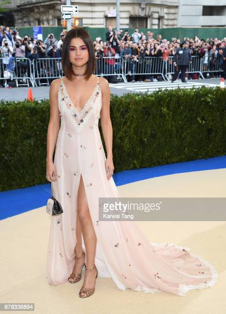 Selena Gomez attends the Rei Kawakubo/Comme des Garcons Art Of The InBetween Costume Institute Gala at the Metropolitan Museum of Art on May 1 2017...