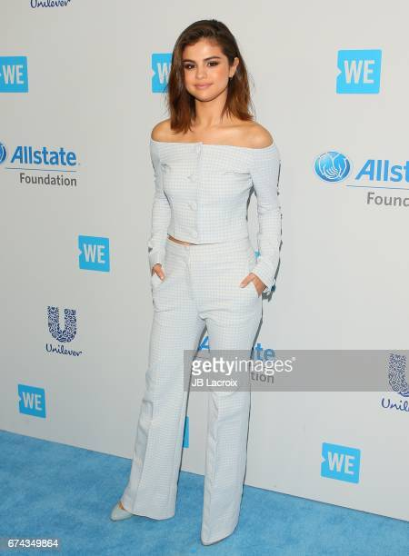 Selena Gomez attends the We Day California 2017 on April 27 2017 in Inglewood California