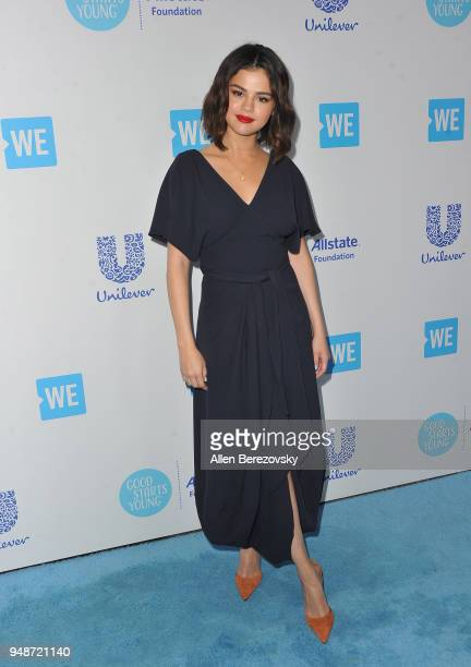 Selena Gomez attends WE Day California at The Forum on April 19 2018 in Inglewood California