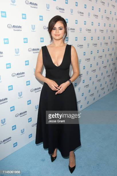Selena Gomez attends WE Day California at The Forum on April 25, 2019 in Inglewood, California.