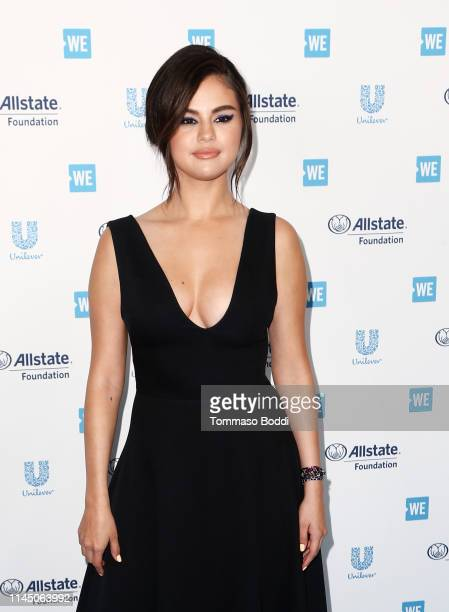 Selena Gomez attends WE Day California at The Forum on April 25 2019 in Inglewood California