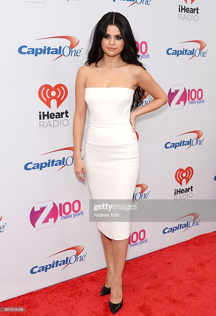 Selena Gomez attends Z100's iHeartRadio Jingle Ball 2015 arrivals at Madison Square Garden on December 11, 2015 in New York City.