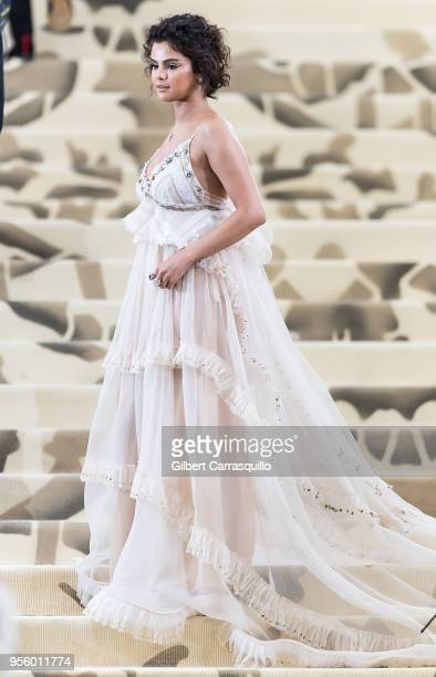 Selena Gomez is seen arriving to the Heavenly Bodies Fashion The Catholic Imagination Costume Institute Gala on May 7 2018 in New York City