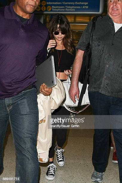Selena Gomez is seen at LAX on August 14 2016 in Los Angeles California