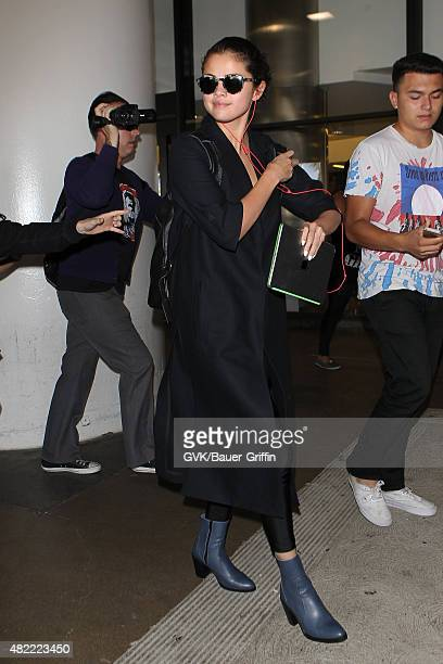 Selena Gomez is seen at LAX on July 28 2015 in Los Angeles California