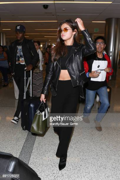 Selena Gomez is seen at LAX on June 02 2017 in Los Angeles California