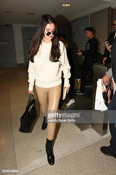 Selena Gomez is seen at LAX on November 28 2016 in Los Angeles California