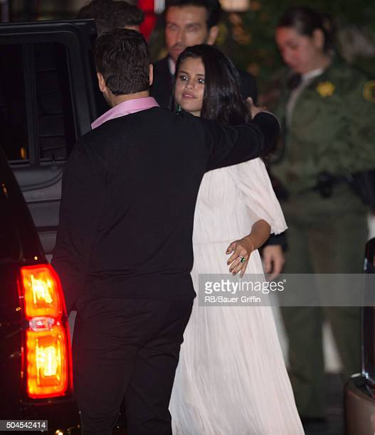 Selena Gomez is seen at the CAA Golden Globe Awards after party at Sunset Tower Hotel in West Hollywood on January 11 2016 in Los Angeles California