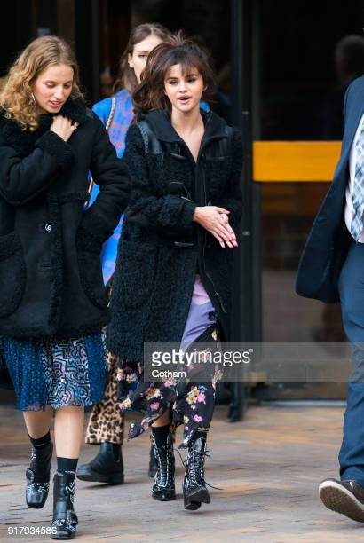 Selena Gomez is seen on February 13 2018 in New York City