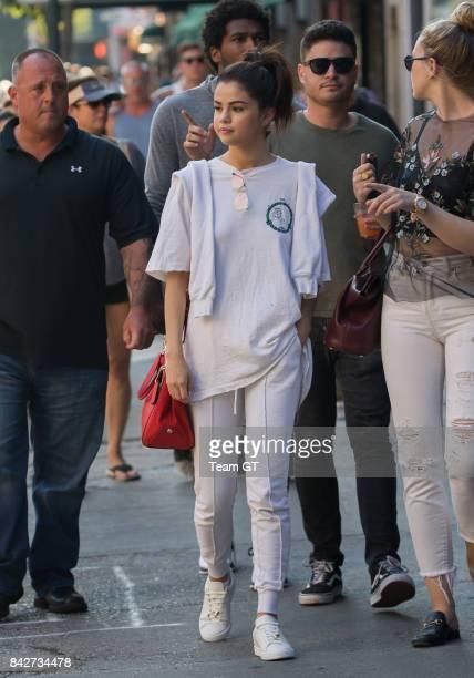 Selena Gomez is seen on September 4 2017 in New York City