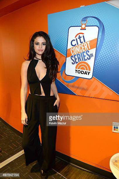 Selena Gomez kicks off the Citi Concert Series on TODAY at Rockefeller Plaza on October 12 2015 in New York City