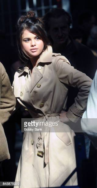 Selena Gomez on the set of the 'Untitled Woody Allen Project' on September 11 2017 in New York City