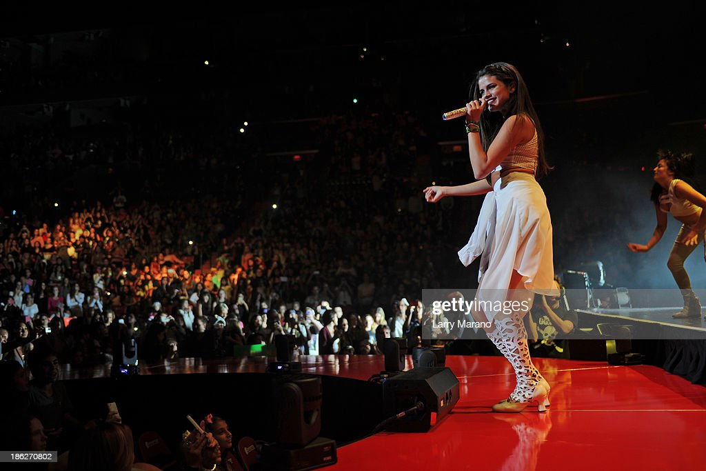 Selena Gomez performs at BB&T Center on October 29, 2013 in Sunrise, Florida.