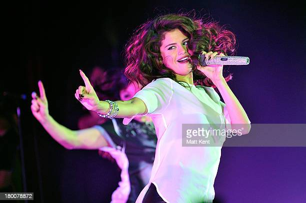Selena Gomez performs at Hammersmith Apollo on September 8 2013 in London England