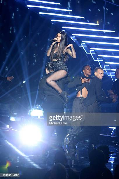 Selena Gomez performs at the 2015 American Music Awards at Microsoft Theater on November 22 2015 in Los Angeles California