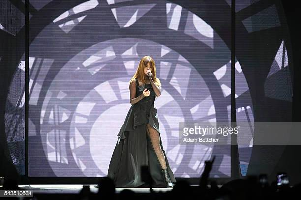 """Selena Gomez performs during her """"Revival"""" tour at Xcel Energy Center on June 28, 2016 in St Paul, Minnesota."""