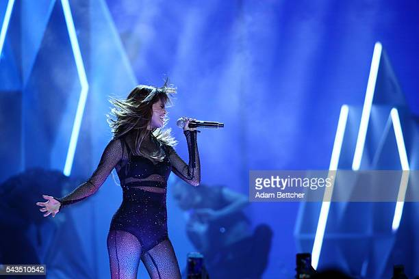 Selena Gomez performs during her 'Revival' tour at Xcel Energy Center on June 28 2016 in St Paul Minnesota