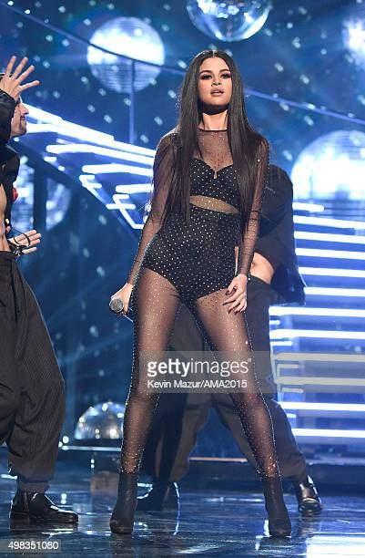 Selena Gomez performs onstage during the 2015 American Music Awards at Microsoft Theater on November 22 2015 in Los Angeles California
