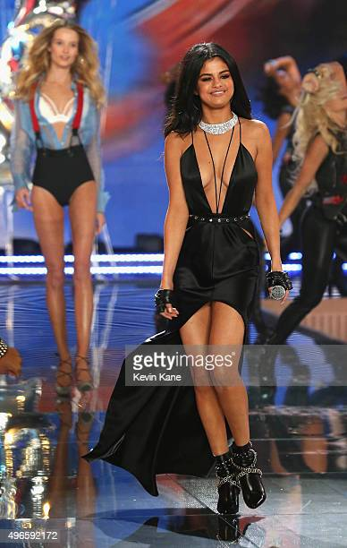 Selena Gomez performs onstage during the 2015 Victoria's Secret Fashion Show at Lexington Armory on November 10 2015 in New York City
