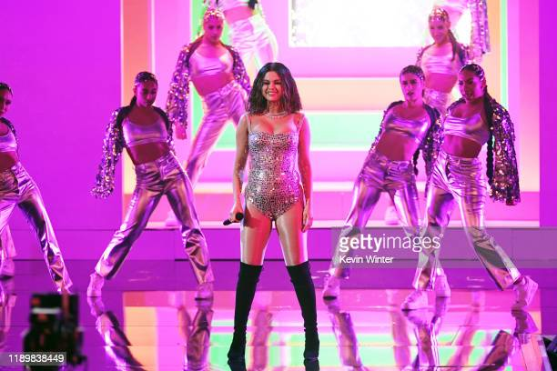 Selena Gomez performs onstage during the 2019 American Music Awards at Microsoft Theater on November 24 2019 in Los Angeles California