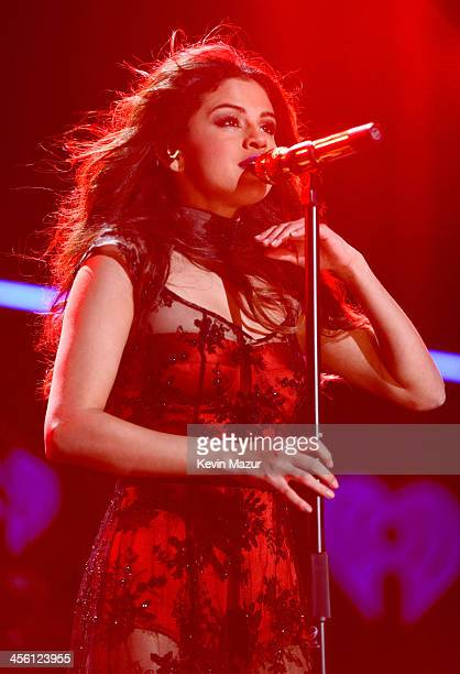 Selena Gomez performs onstage during Z100's Jingle Ball 2013 presented by Aeropostale Madison Square Garden on December 13 2013 in New York City