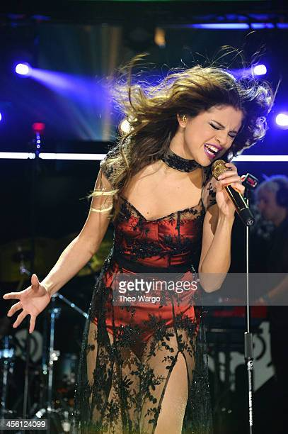 Selena Gomez performs onstage during Z100's Jingle Ball 2013 presented by Aeropostale at Madison Square Garden on December 13 2013 in New York City
