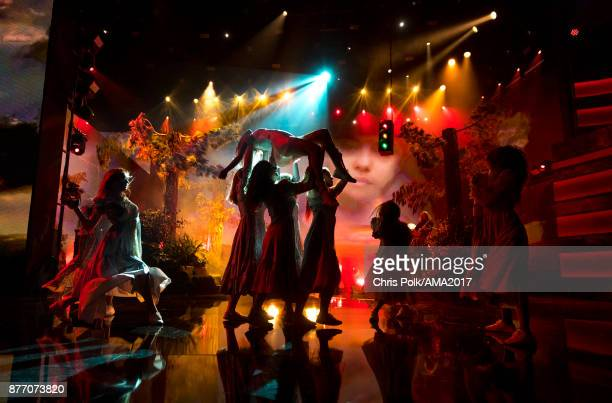 Selena Gomez performs 'Wolves' onstage during the 2017 American Music Awards at Microsoft Theater on November 19 2017 in Los Angeles California