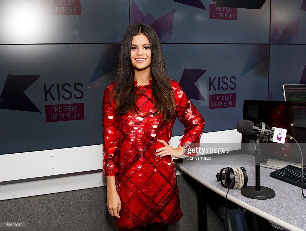 Selena Gomez Visits Kiss FM : News Photo